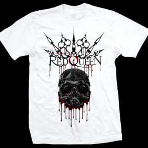 Red-Queen-skull-drip-shirt