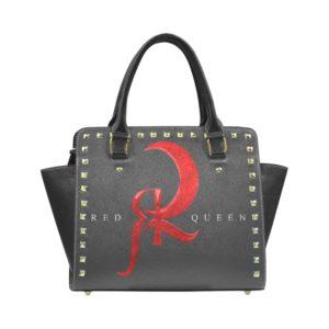 Red Queen Symbol Logo Rivet Shoulder Handbag