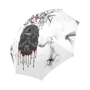 Red Queen Skull Blood Auto-Foldable Umbrella