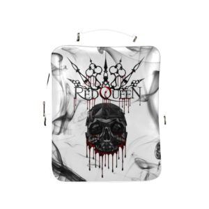 Red Queen Skull Blood White Square Backpack