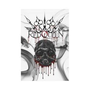 Red Queen Skull Blood 2 Polyester FabricFlag 12''x18''(Without Flagpole)