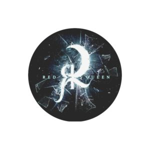 Red Queen Shattered Glass Round Mousepad
