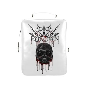 Red Queen Skull Blood Square Backpack