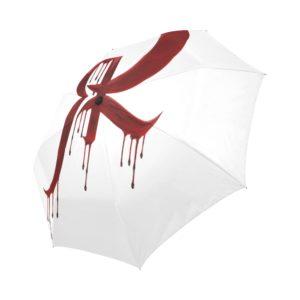 Red Queen Blood Drip Symbol Auto-Foldable Umbrella