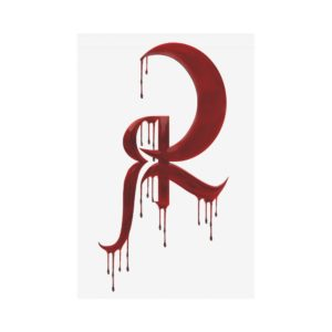 Red Queen Blood Drip Symbol Polyester Fabric Flag 12''x18''(Without Flagpole)